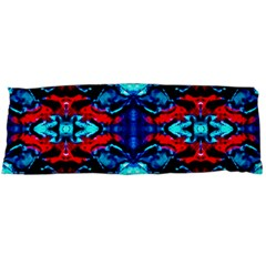 Red Black Blue Art Pattern Abstract Body Pillow Cases Dakimakura (two Sides)  by Costasonlineshop
