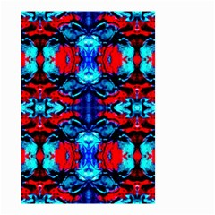Red Black Blue Art Pattern Abstract Small Garden Flag (two Sides) by Costasonlineshop