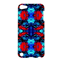 Red Black Blue Art Pattern Abstract Apple Ipod Touch 5 Hardshell Case by Costasonlineshop