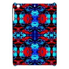 Red Black Blue Art Pattern Abstract Apple Ipad Mini Hardshell Case by Costasonlineshop