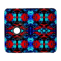 Red Black Blue Art Pattern Abstract Samsung Galaxy S  Iii Flip 360 Case by Costasonlineshop