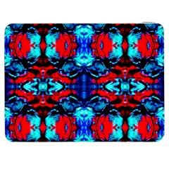 Red Black Blue Art Pattern Abstract Samsung Galaxy Tab 7  P1000 Flip Case