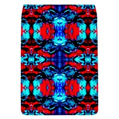 Red Black Blue Art Pattern Abstract Flap Covers (l)  by Costasonlineshop