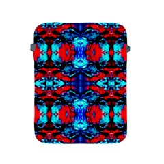 Red Black Blue Art Pattern Abstract Apple Ipad 2/3/4 Protective Soft Cases by Costasonlineshop