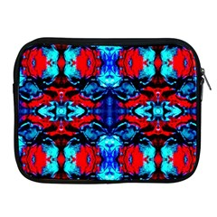 Red Black Blue Art Pattern Abstract Apple Ipad 2/3/4 Zipper Cases by Costasonlineshop