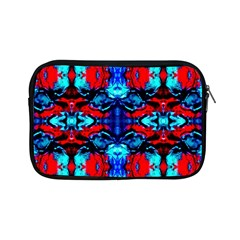 Red Black Blue Art Pattern Abstract Apple Ipad Mini Zipper Cases by Costasonlineshop