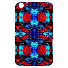 Red Black Blue Art Pattern Abstract Samsung Galaxy Tab 3 (8 ) T3100 Hardshell Case  by Costasonlineshop