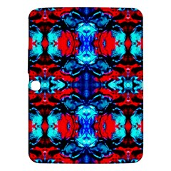 Red Black Blue Art Pattern Abstract Samsung Galaxy Tab 3 (10 1 ) P5200 Hardshell Case  by Costasonlineshop