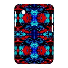 Red Black Blue Art Pattern Abstract Samsung Galaxy Tab 2 (7 ) P3100 Hardshell Case  by Costasonlineshop