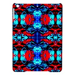Red Black Blue Art Pattern Abstract Ipad Air Hardshell Cases by Costasonlineshop