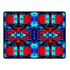 Red Black Blue Art Pattern Abstract Double Sided Fleece Blanket (small)
