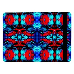Red Black Blue Art Pattern Abstract Samsung Galaxy Tab Pro 12 2  Flip Case by Costasonlineshop