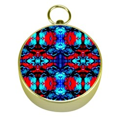 Red Black Blue Art Pattern Abstract Gold Compasses
