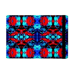 Red Black Blue Art Pattern Abstract Ipad Mini 2 Flip Cases