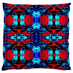 Red Black Blue Art Pattern Abstract Standard Flano Cushion Cases (one Side)  by Costasonlineshop