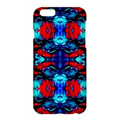 Red Black Blue Art Pattern Abstract Apple Iphone 6 Plus/6s Plus Hardshell Case by Costasonlineshop