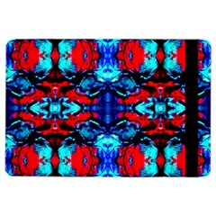 Red Black Blue Art Pattern Abstract Ipad Air 2 Flip by Costasonlineshop
