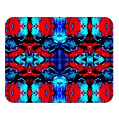 Red Black Blue Art Pattern Abstract Double Sided Flano Blanket (large)  by Costasonlineshop