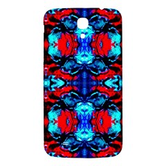 Red Black Blue Art Pattern Abstract Samsung Galaxy Mega I9200 Hardshell Back Case by Costasonlineshop