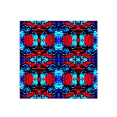 Red Black Blue Art Pattern Abstract Satin Bandana Scarf by Costasonlineshop
