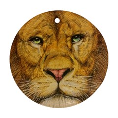 Regal Lion Drawing Ornament (round)  by KentChua