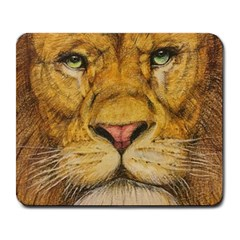 Regal Lion Drawing Large Mousepads by KentChua