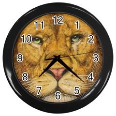 Regal Lion Drawing Wall Clocks (black) by KentChua