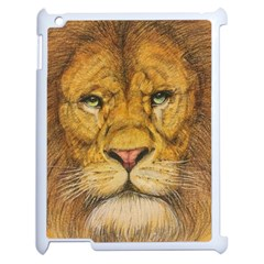 Regal Lion Drawing Apple Ipad 2 Case (white) by KentChua