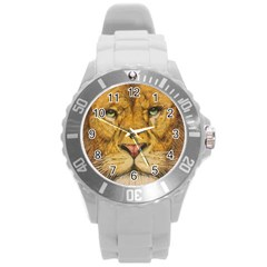 Regal Lion Drawing Round Plastic Sport Watch (l) by KentChua
