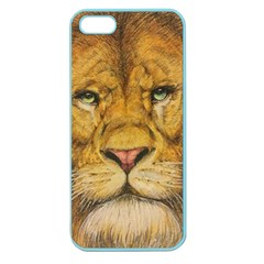 Regal Lion Drawing Apple Seamless Iphone 5 Case (color) by KentChua