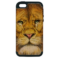 Regal Lion Drawing Apple Iphone 5 Hardshell Case (pc+silicone) by KentChua