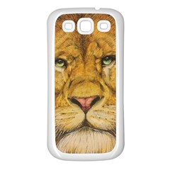 Regal Lion Drawing Samsung Galaxy S3 Back Case (white)