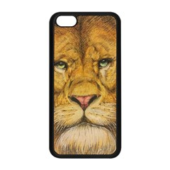 Regal Lion Drawing Apple Iphone 5c Seamless Case (black) by KentChua