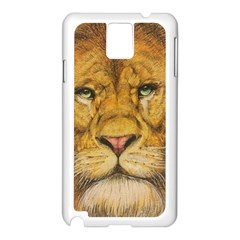 Regal Lion Drawing Samsung Galaxy Note 3 N9005 Case (white) by KentChua