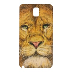 Regal Lion Drawing Samsung Galaxy Note 3 N9005 Hardshell Back Case by KentChua