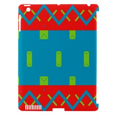 Chevrons And Rectangles 			apple Ipad 3/4 Hardshell Case (compatible With Smart Cover) by LalyLauraFLM