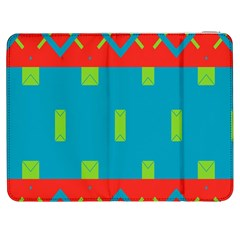 Chevrons And Rectangles samsung Galaxy Tab 7  P1000 Flip Case by LalyLauraFLM