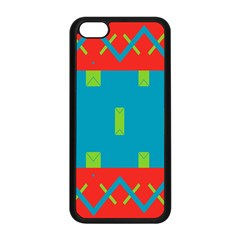Chevrons And Rectangles 			apple Iphone 5c Seamless Case (black) by LalyLauraFLM