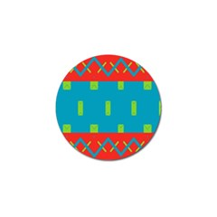 Chevrons And Rectangles 			golf Ball Marker by LalyLauraFLM