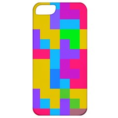 Colorful Tetris Shapes 			apple Iphone 5 Classic Hardshell Case by LalyLauraFLM