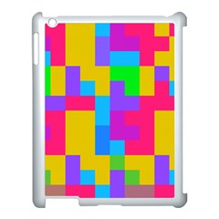 Colorful Tetris Shapes 			apple Ipad 3/4 Case (white) by LalyLauraFLM