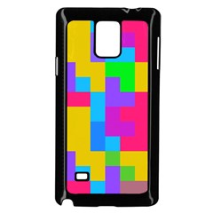 Colorful tetris shapes 			Samsung Galaxy Note 4 Case (Black) by LalyLauraFLM