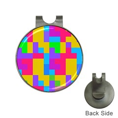 Colorful Tetris Shapes golf Ball Marker Hat Clip by LalyLauraFLM