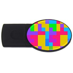 Colorful Tetris Shapes usb Flash Drive Oval (4 Gb) by LalyLauraFLM