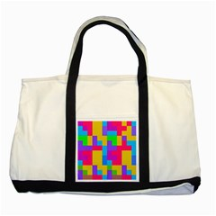 Colorful Tetris Shapes 			two Tone Tote Bag by LalyLauraFLM