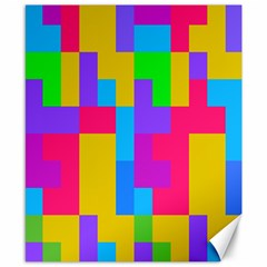 Colorful Tetris Shapes 			canvas 8  X 10  by LalyLauraFLM