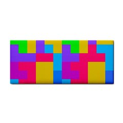 Colorful Tetris Shapes hand Towel by LalyLauraFLM