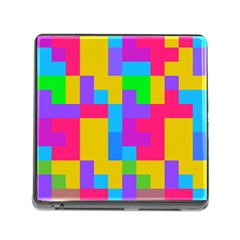 Colorful Tetris Shapes 			memory Card Reader (square) by LalyLauraFLM