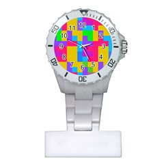 Colorful Tetris Shapes 			nurses Watch by LalyLauraFLM