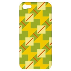 Squares And Stripes 			apple Iphone 5 Hardshell Case by LalyLauraFLM